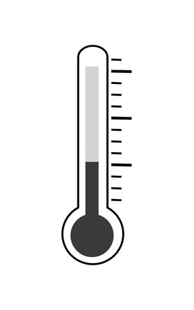 Thermometer flat vector icon.Thermometer sign isolate on white background drawing by illustration