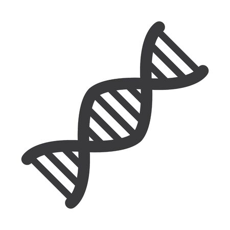 DNA Sign. DNA icon isolate on white background drawing by illustration Ilustração