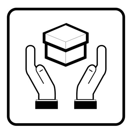 Handle with care  icon. warning sign. Packaging Symbol.editable EPS10 vector file format and JPG