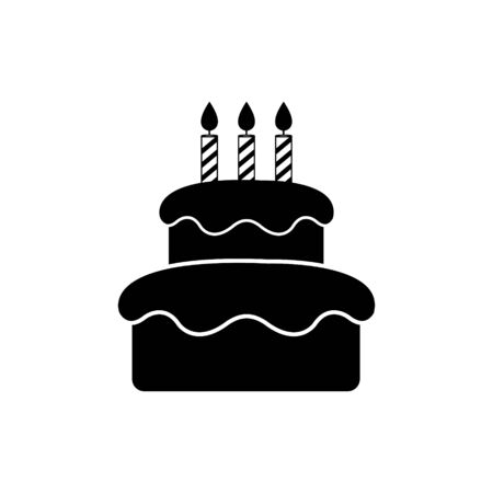 cake icon isolated on white background drawing by illustration.Vector cake icon Illustration
