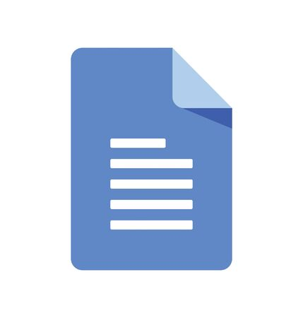 Document Icon isolate on white background.file web icon