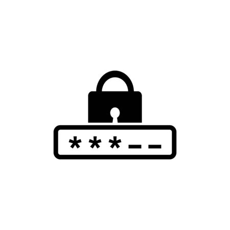 security password Icon isolate on white background drawing by illustration