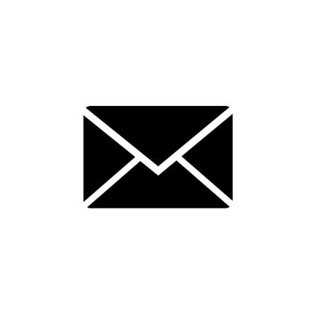 Mail Icon isolate on white background drawing by illustration. Black mail Icon Vectores