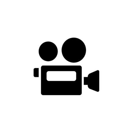 Video camera icon. Film recording cam symbol drawing by illustration Ilustração