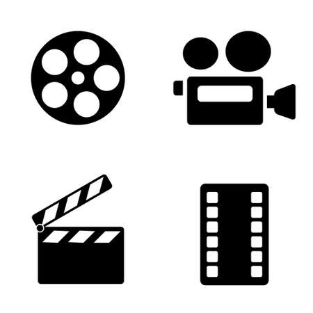 set of cinema icons drawing by illustration. Video camera icon