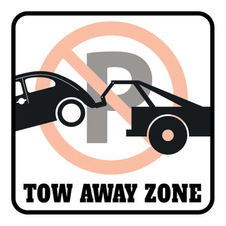 No Parking Tow Away Zones Signs drawing by illustration,Do Not Block Driveway Sign