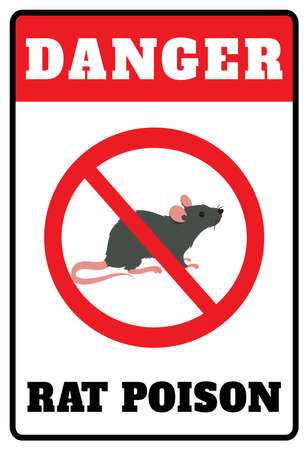 Danger Rat Poison Do Not Eat Novelty Warning Caution Notice