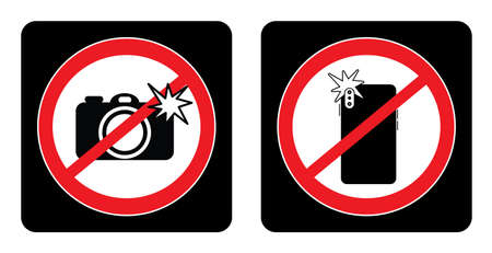 Don't Use Camera symbol. No camera Icon on black background