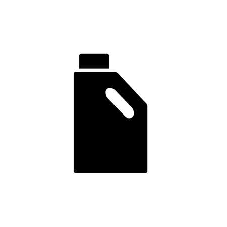 Oil can sign on white background drawing by illustration Ilustração