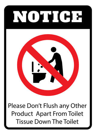 Notice - Do not litter in to toilet icon.Do not litter toilet icon drawing by illustration Ilustração
