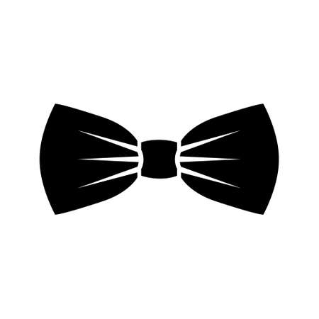 Tie bow icon in flat style. Bowtie vector illustration on black background drawing by illustration