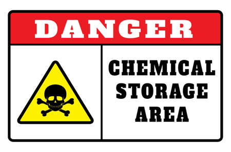 Danger chemicals sign vector image. DANGER Chemical Storage. Sign Ilustração
