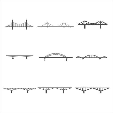 balustrade: bridges icons set