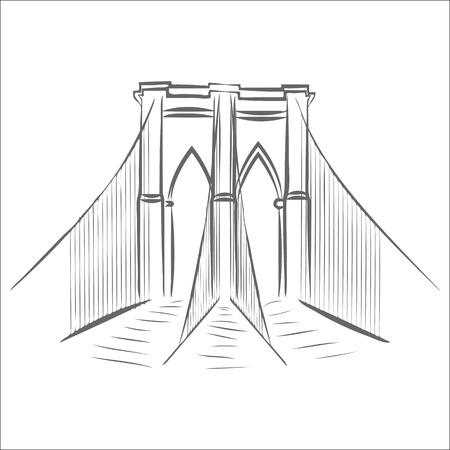 icon of brooklyn bridge.