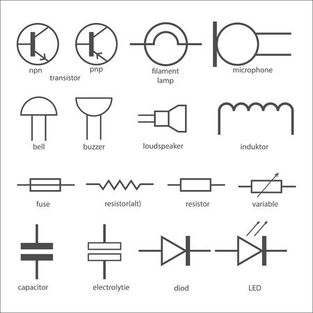 capacitor: Electric circuit symbols.
