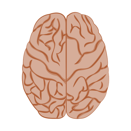 Medicine icon brain. Illustration