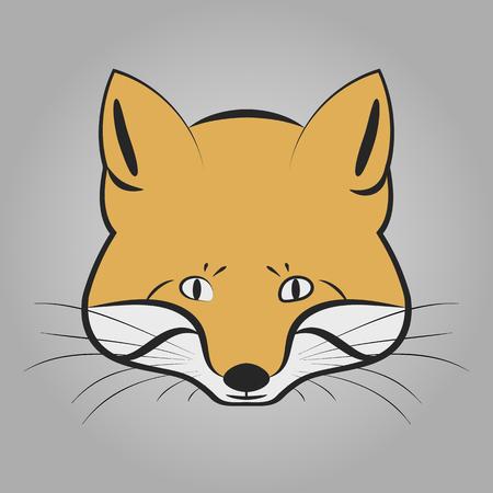 foxy: Fox head icon Illustration