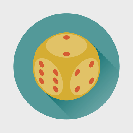 argumentation: Dice Cube icon. Illustration