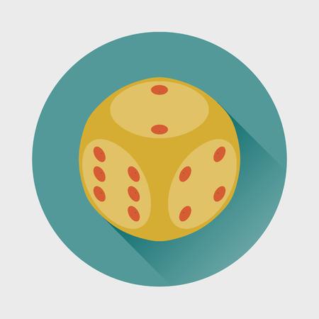 Dice Cube icon. Illustration