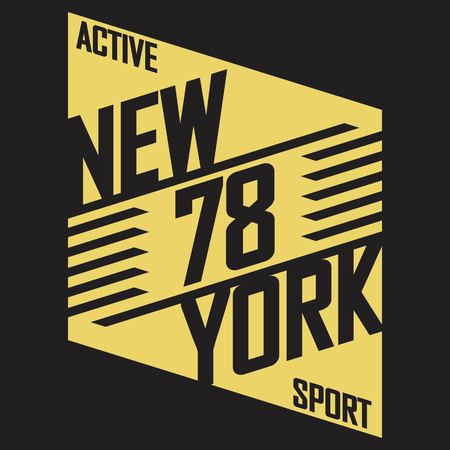 jersey: Athletic sport typography, t-shirt graphics, Creative design Illustration