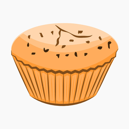 Cupcake cartoon Icon. Stock Photo