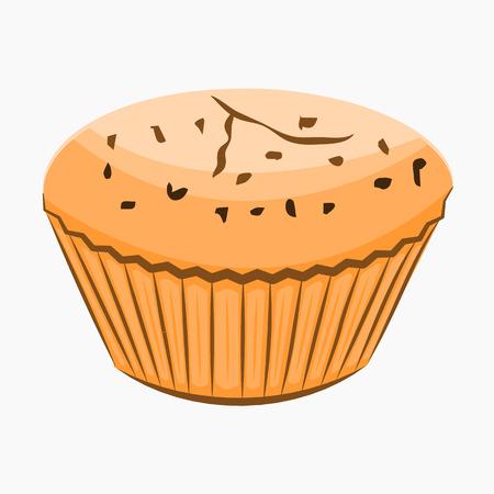 blueberry muffin: Cupcake cartoon Icon. Stock Photo