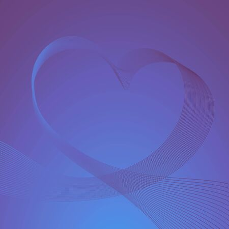 Abstract Valentine's background with heart in ultraviolet tones. Modern design, dynamic image, vector illustration.