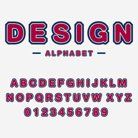 Modern abstract  typographic font and alphabet. Minimal design. Vector Illustration.