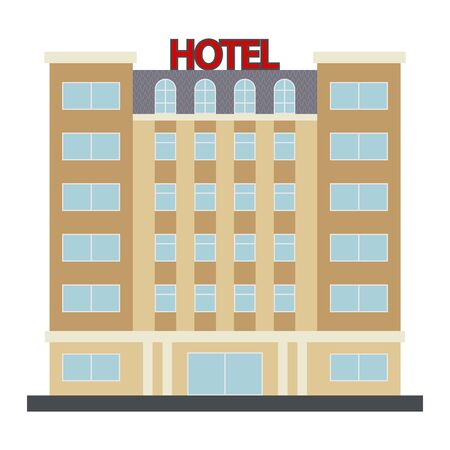Hotel Vector Icon. Vector illustration.