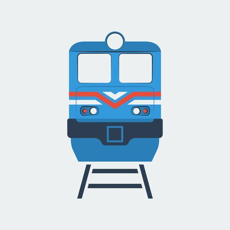 train icon, stock vector illustration, flat design style 向量圖像