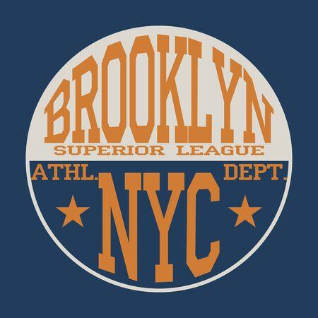 New York  Sport wear typography emblem, t-shirt stamp graphics, vintage tee print, athletic apparel design graphic print, poster, banner, flyer, postcard.Vector illustration.