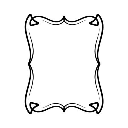 Vector image, decorative ornamental frame, original design.