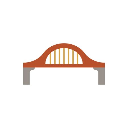 Bridge, suspension, rope icon vector image.Can also be used for building and landmarks . Suitable for mobile apps, web apps. Vector illustration.