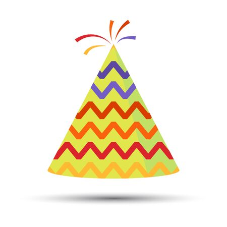 Party hat cone. Capt. Accessory, symbol of the holiday. Birthday . Vector illustration.