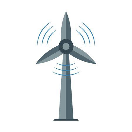 Windmill icon, Ecology symbol, alternative energy power. Vector. Ilustracja