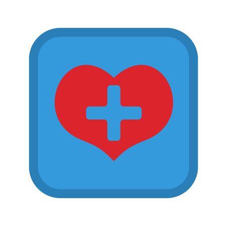 Heart medical symbol icon.