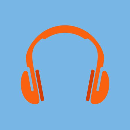 Vector icon of headphones. Fully editable image.