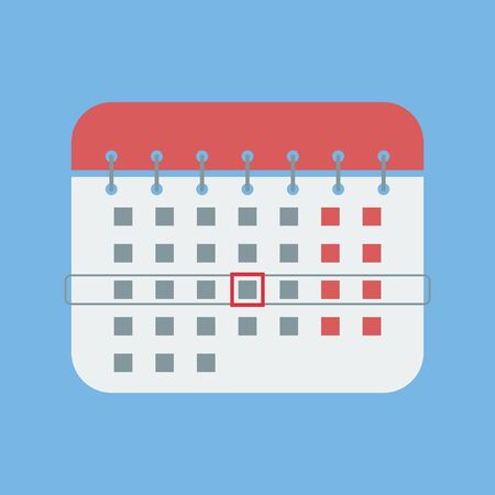 Calendar icon. Vector illustration. Flat design. 向量圖像