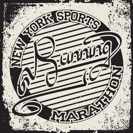 New York  Sport wear typography emblem, t-shirt stamp graphics, tee print, athletic apparel design. Vector illustration. Ilustração