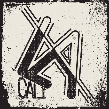 Los Angeles typography, t-shirt stamp graphics, vintage tee print, athletic apparel design graphic print - vector 向量圖像
