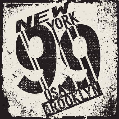 New York typography, t-shirt vintage, design graphic, original design clothing