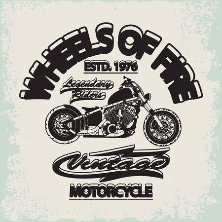 Motorcycle Racing Typography Graphics. Old school bike. T-shirt Design, vector illustration