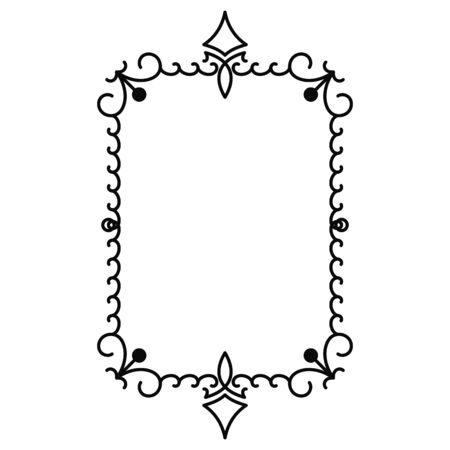 vector image, decorative ornamental frame, original design Vettoriali