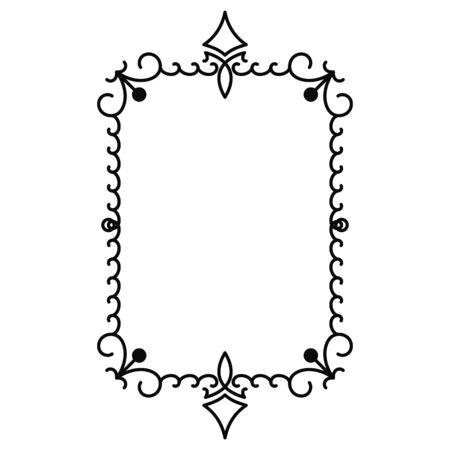 vector image, decorative ornamental frame, original design Vektorové ilustrace