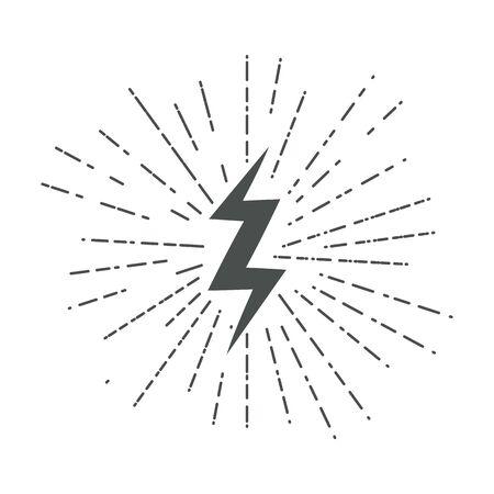 Lightning icons. Thunder. Lightning strike. Vector. 向量圖像