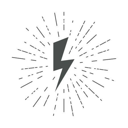 Lightning icons. Thunder. Lightning strike. Vector.
