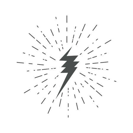 Lightning icons. Thunder. Lightning strike. Vector. 版權商用圖片 - 144003165