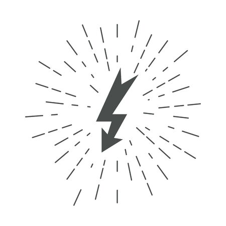 Lightning icons. Thunder. Lightning strike. Vector. 版權商用圖片 - 144003166