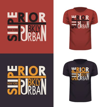 Superior t-shirt. Urban style. New York city. Brooklyn Sports typography. Vector.