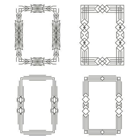 Art Deco vintage frames. The borders. Vector graphics